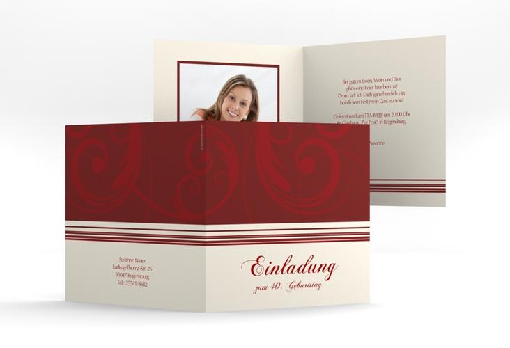 """Einladungskarte """"Katharina"""" Quadratische Klappkarte"""