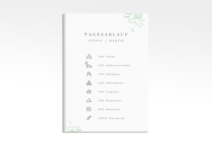 """Tagesablauf Leinwand Hochzeit """"Magnificent"""" 50 x 70 cm Leinwand mint"""