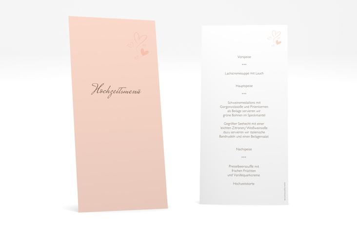 "Menükarte Hochzeit ""Purity"" DIN lang hoch"