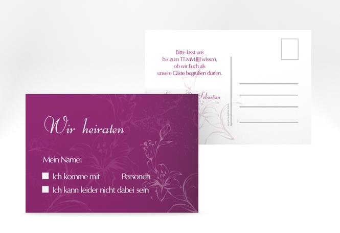 """Antwortkarte Hochzeit """"Lille"""" A6 Postkarte"""