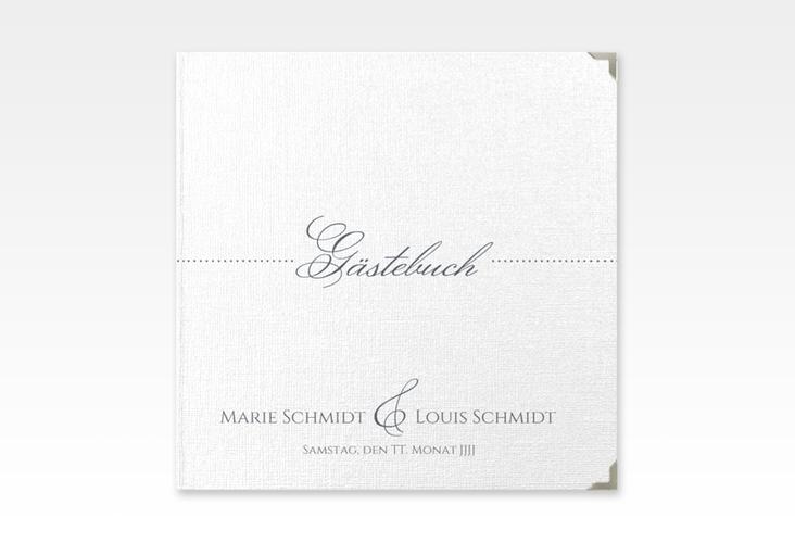 """Gästebuch Selection Hochzeit """"Pure"""" Leinen-Hardcover"""