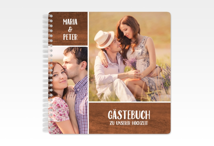 "Gästebuch Hochzeit ""Landliebe"" Ringbindung"