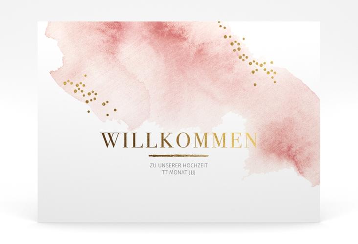 "Willkommensschild Poster ""Pastell"" 70 x 50 cm Poster rosa"
