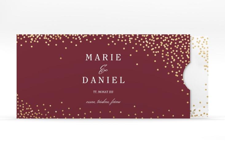 """Hochzeitseinladung """"Glitter"""" Einsteckkarte rot"""