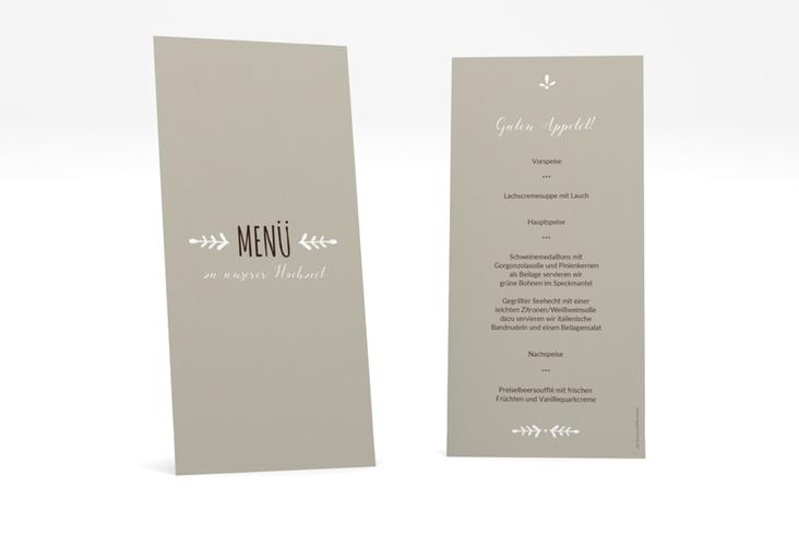 """Menükarte Hochzeit """"Eden"""" DIN lang hoch weiss"""