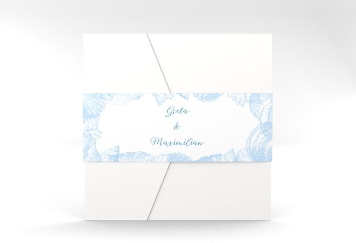 """Hochzeitseinladung """"Muschelreich"""" Pocketfold"""