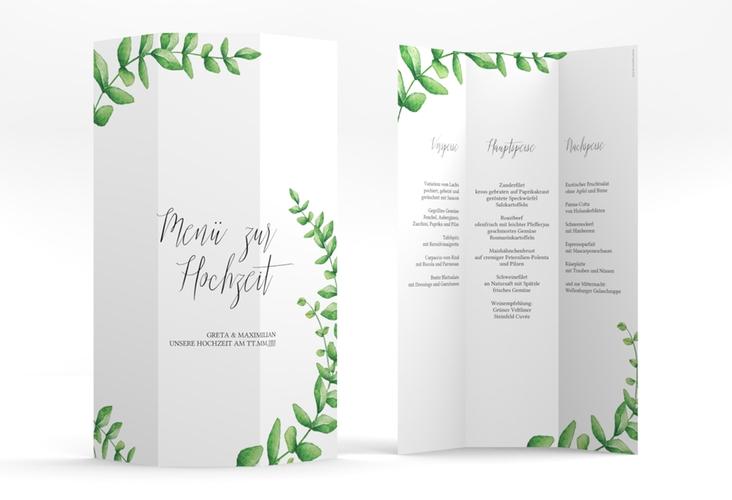 "Menükarte Hochzeit ""Botanic"" DIN A4 Wickelfalz"