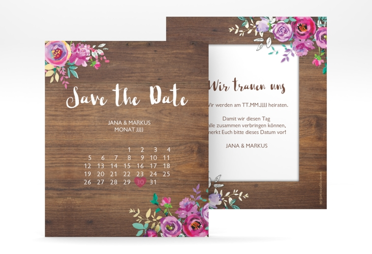 "Save the Date-Kalenderblatt ""Flourish"" Kalenderblatt-Karte"