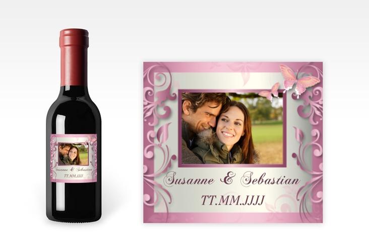 "Piccoloetikett Hochzeit ""Toulouse"" Etikett Piccolo rosa"