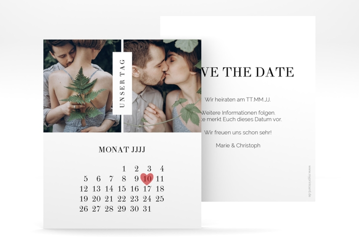 "Save the Date-Kalenderblatt ""Klarheit"" Kalenderblatt-Karte"