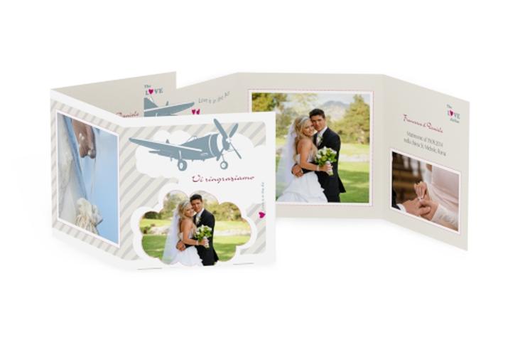 Ringraziamenti matrimonio collezione Teneriffa Quadr. Karte doppelt
