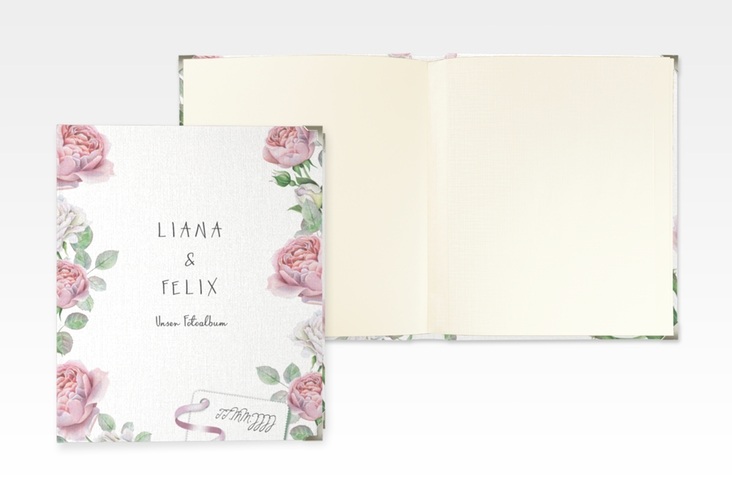 """Hochzeitsalbum """"Primavera"""" 21 x 25 cm weiss"""