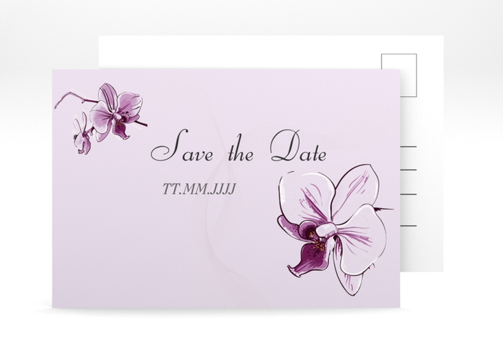 "Save the Date-Postkarte ""Modena"" A6 Postkarte lila"