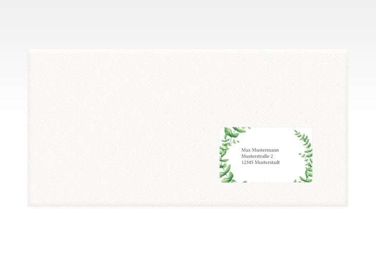 """Empfängeretikett Hochzeit """"Botanic"""" 63,5 x 38,1 mm weiss"""