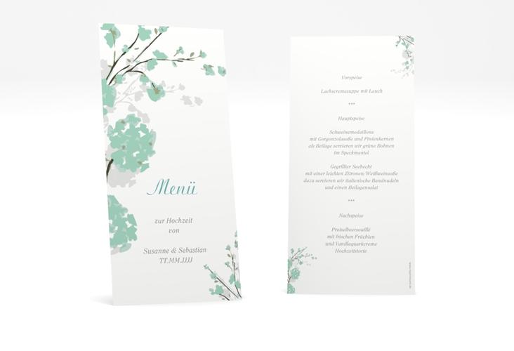 """Menükarte Hochzeit """"Salerno"""" DIN lang hoch"""