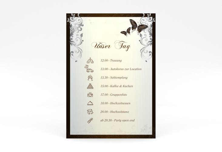 """Tagesablauf Poster Hochzeit """"Toulouse"""" 50 x 70 cm Poster braun"""