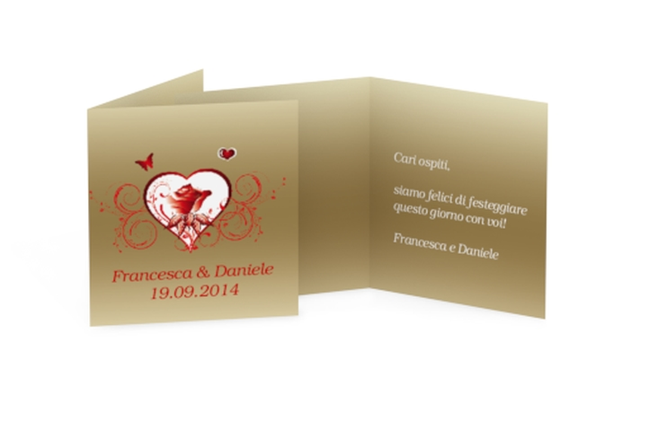 Biglietti Bomboniera matrimonio collezione Bari Geschenkanhänger 10er Set