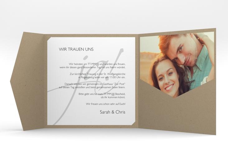 """Hochzeitseinladung """"Clarity"""" Pocketfold"""