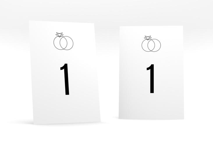 """Tischnummer Hochzeit """"Rings"""" Tischaufsteller"""