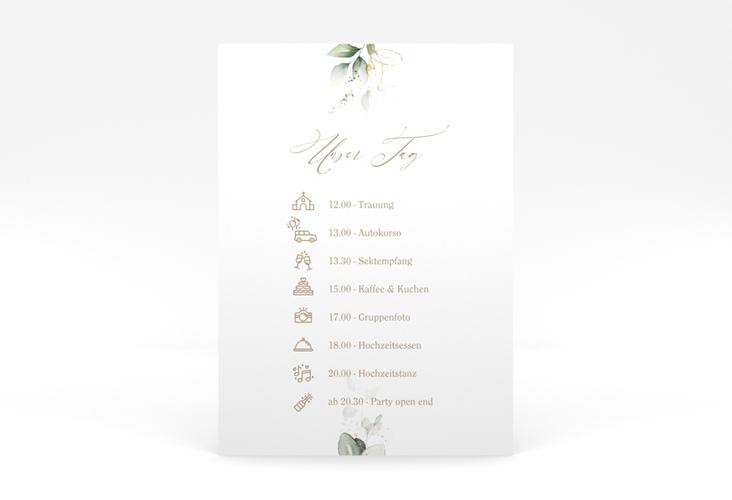 """Tagesablauf Poster Hochzeit """"Selvatica"""" 50 x 70 cm Poster weiss"""