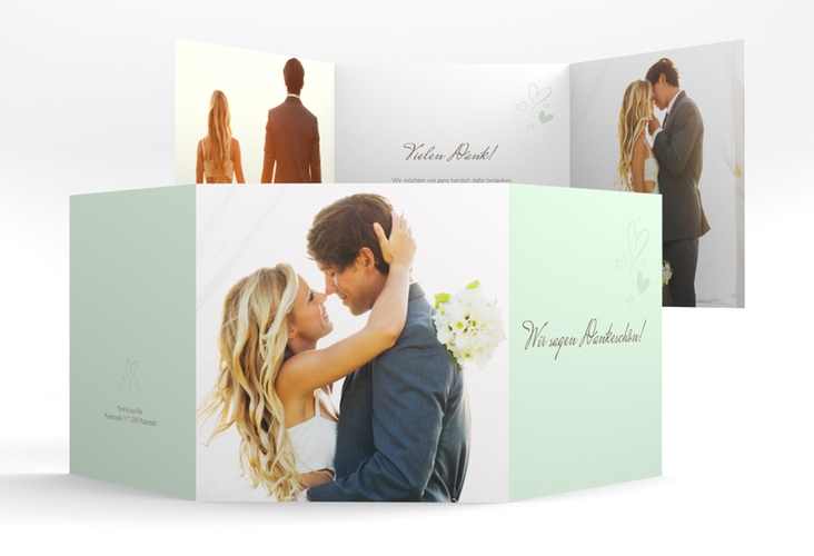 "Dankeskarte Hochzeit ""Purity"" Quadr. Karte doppelt mint"