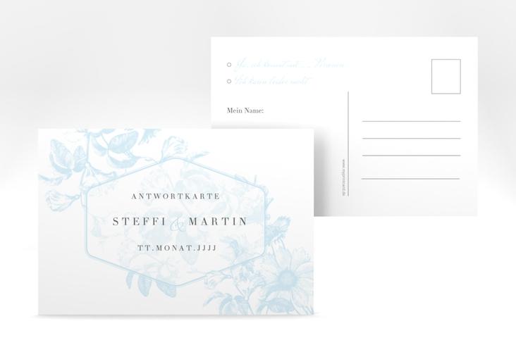 """Antwortkarte Hochzeit """"Magnificent"""" A6 Postkarte tuerkis"""