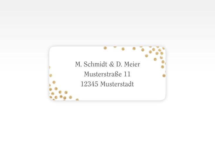 """Absenderetikett Hochzeit """"Glitter"""" 45,7 x 21,2 mm weiss"""