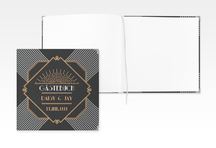 "Gästebuch Selection Hochzeit ""Gatsby"" Leinen-Hardcover"