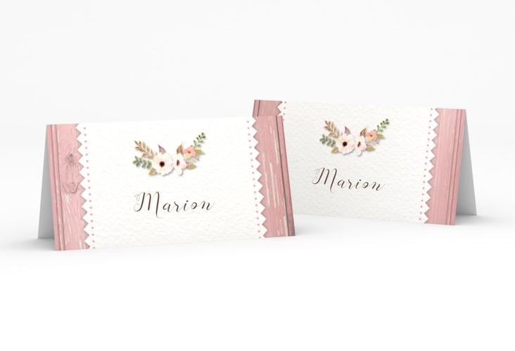 "Tischkarte Hochzeit ""Heimatjuwel"" Tischkarten rosa"