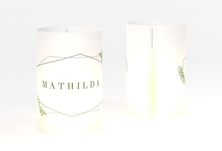 """Windlicht Hochzeit """"Herbarium"""" Windlicht grau"""