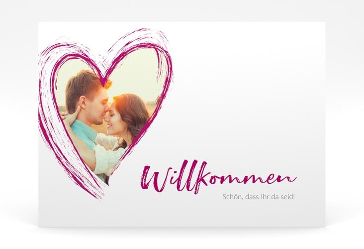 """Willkommensschild Poster """"Liebe"""" 70 x 50 cm Poster pink"""