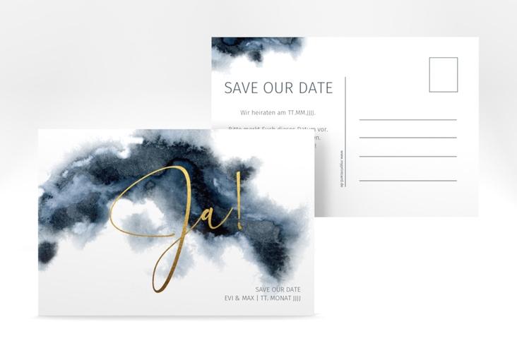 """Save the Date-Postkarte """"Aquarellic"""" A6 Postkarte"""