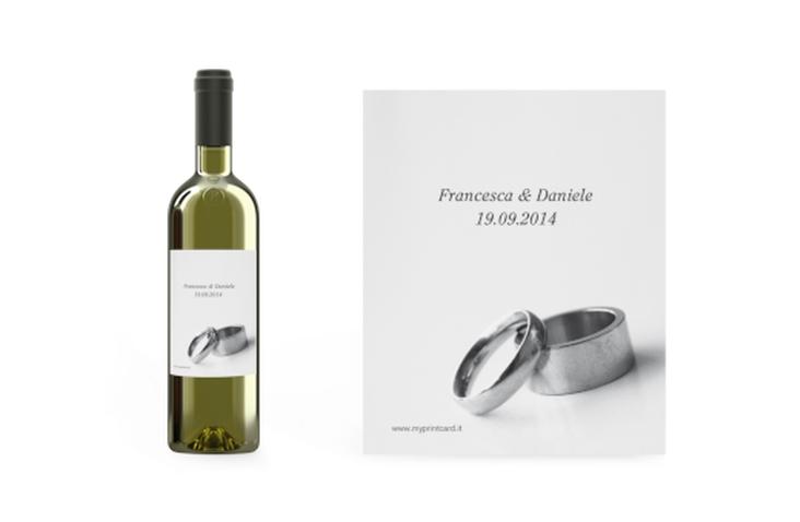 Etichette vino matrimonio collezione Siviglia Etikett Weinflasche 4er Set