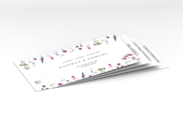 """Hochzeitseinladung """"Wildblumen"""" Booklet"""