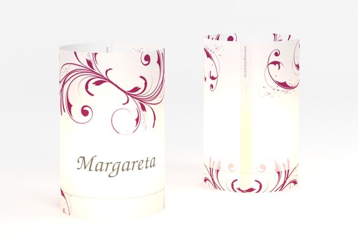 """Windlicht Hochzeit """"Palma"""" Windlicht pink"""