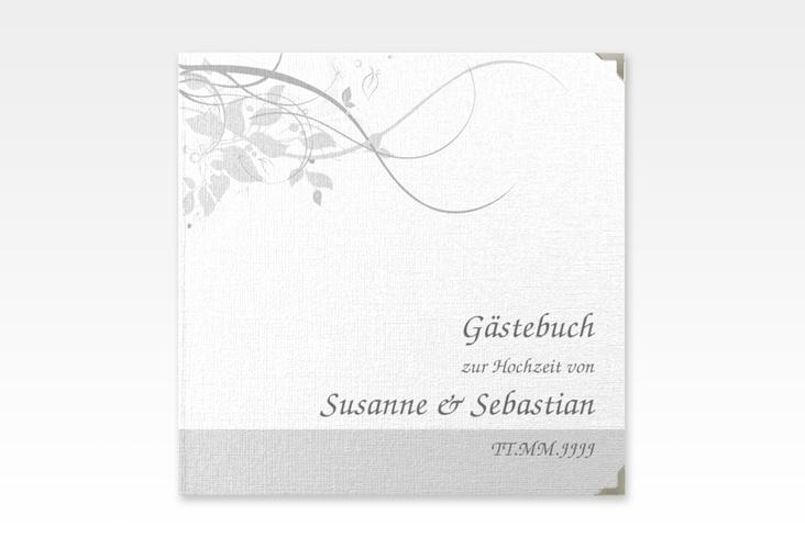 "Gästebuch Selection Hochzeit ""Florenz"" Leinen-Hardcover grau"
