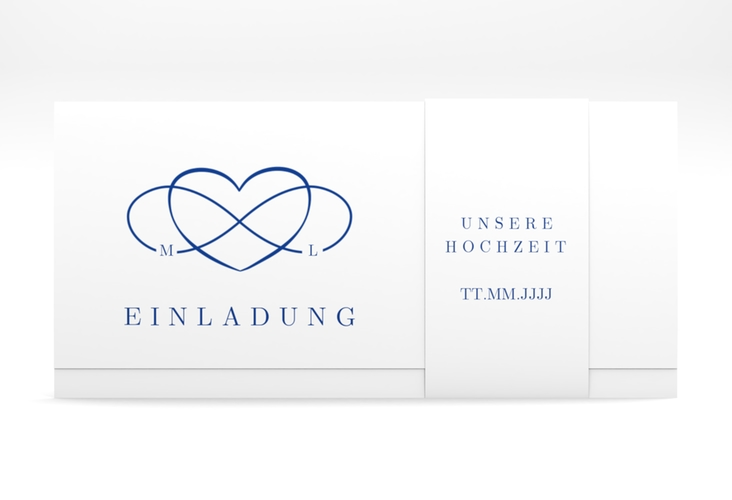 """Hochzeitseinladung """"Infinity"""" DIN lang Wickelfalz"""