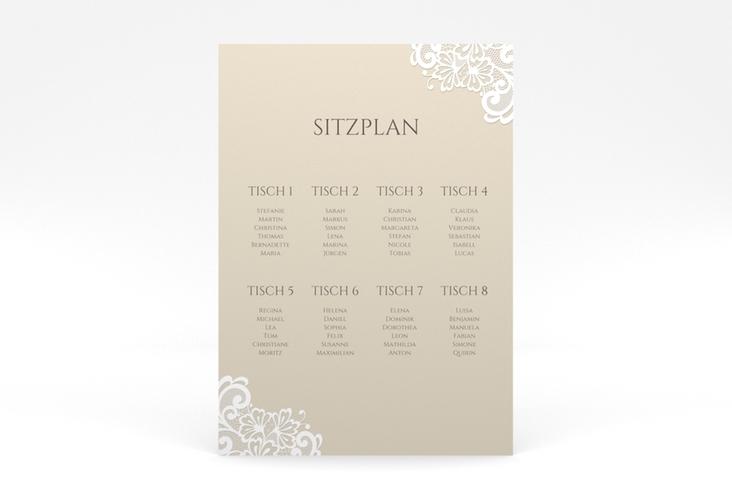 """Sitzplan Poster Hochzeit """"Vintage"""" 50 x 70 cm Poster beige"""