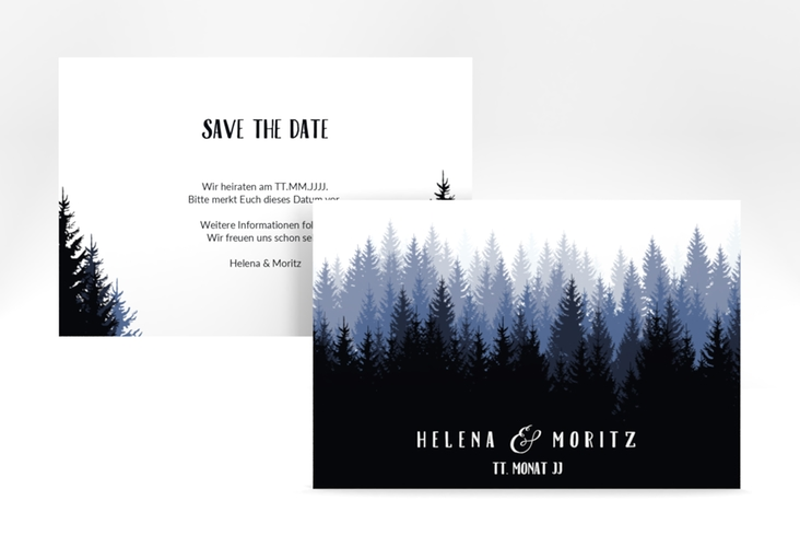 "Save the Date-Karte ""Forest"" A6 quer"