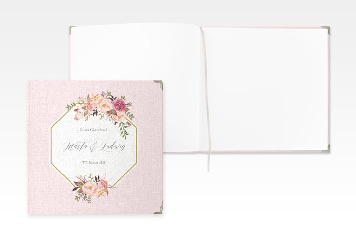 "Gästebuch Selection Hochzeit ""Prachtvoll"" Leinen-Hardcover rosa"