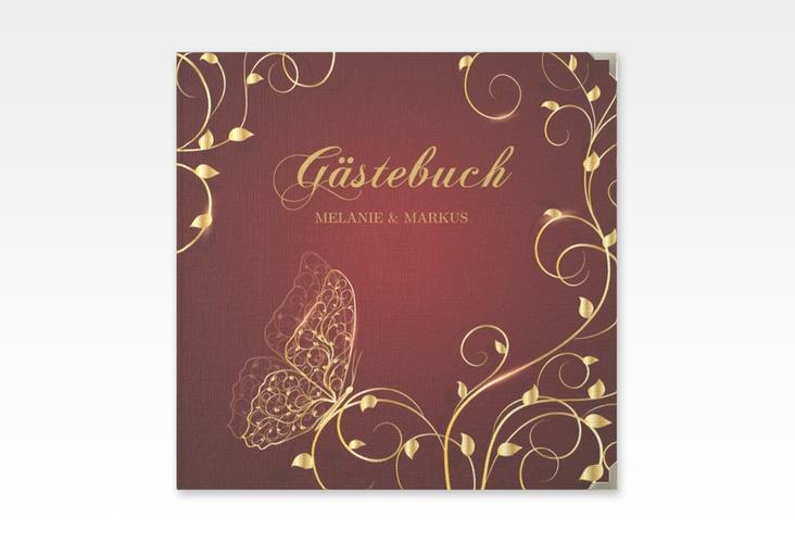 "Gästebuch Selection Hochzeit ""Eternity"" Leinen-Hardcover rot"
