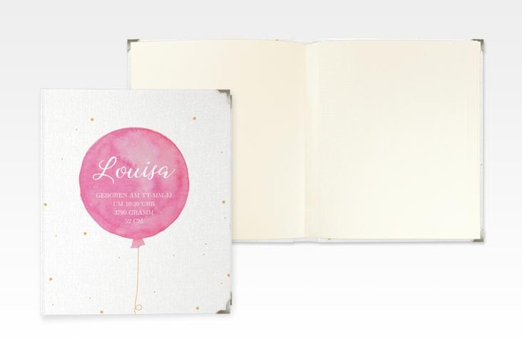 """Baby Fotoalbum """"Kinderleicht"""" 21 x 25 cm pink"""