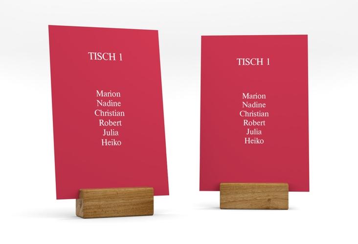 """Tischaufsteller Hochzeit """"Classic"""" Tischaufsteller rot"""