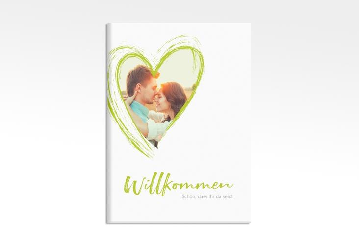 """Willkommensschild Leinwand """"Liebe"""" 50 x 70 cm Leinwand gruen"""