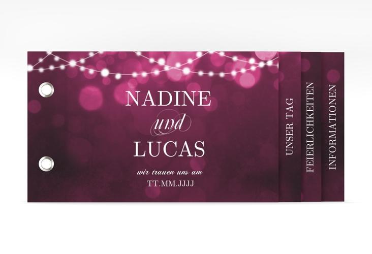 """Hochzeitseinladung """"Lichtspiel"""" Booklet pink"""