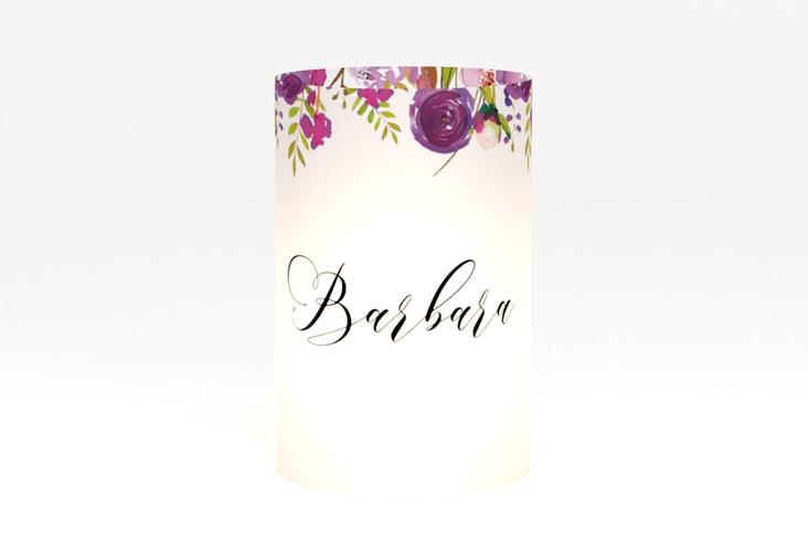 """Windlicht Hochzeit """"Violett"""" Windlicht weiss"""