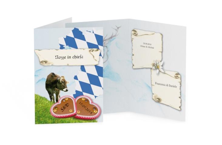 Libro messa matrimonio collezione Alpi DIN A5 geklappt