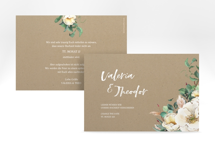 """Change the Date-Karte """"Ivory"""" A6 quer beige"""
