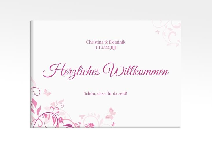 "Willkommensschild Leinwand ""Lilly"" 70 x 50 cm Leinwand"