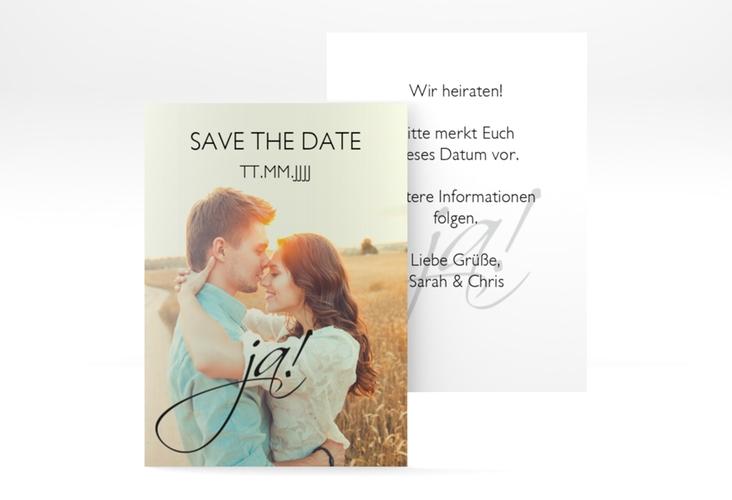 "Save the Date-Visitenkarte ""Clarity"" Visitenkarte schwarz"
